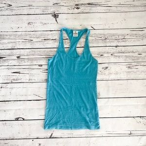 Victoria's Secret PINK racer back top aqua blue